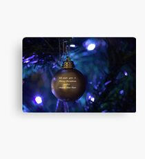 Golden Bauble for Christmas Canvas Print