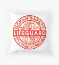 Hawaii Lifeguard Logo Throw Pillow