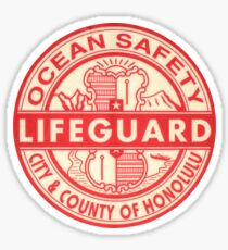 Hawaii Lifeguard Logo Sticker