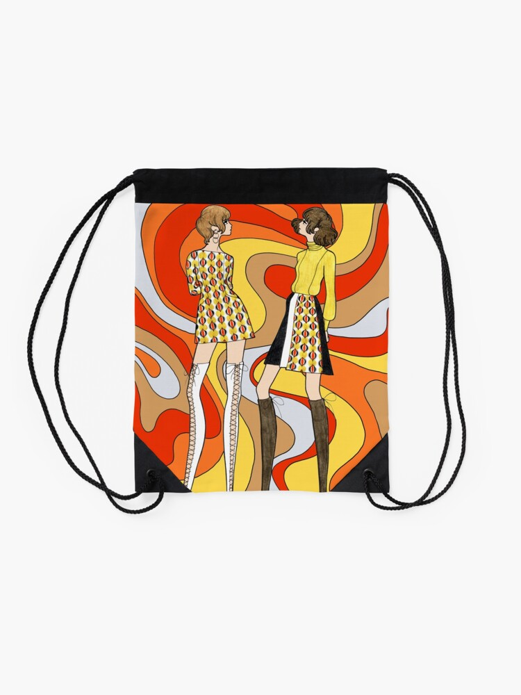 Alternate view of Dreamy Groove Drawstring Bag