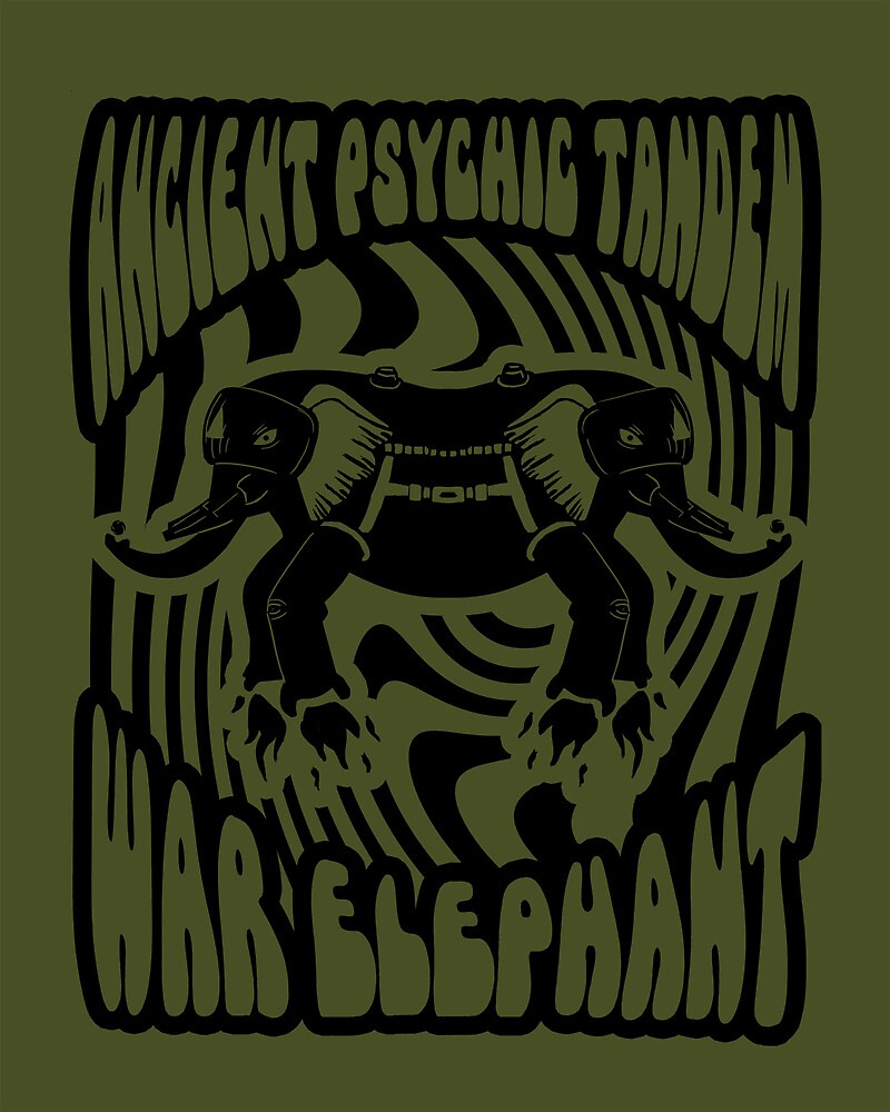 Ancient physic tandem war elephant by Whitebison