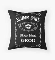 Scumm Bar's GROG Throw Pillow