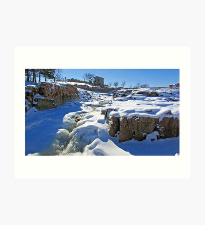 Snowy Falls Art Print