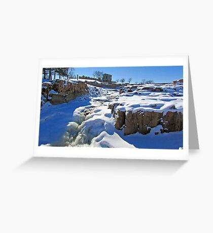 Snowy Falls Greeting Card