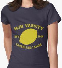 MJN Varsity- Travelling Lemon Women's Fitted T-Shirt