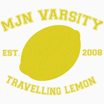 MJN Varsity- Travelling Lemon by gloriouspurpose