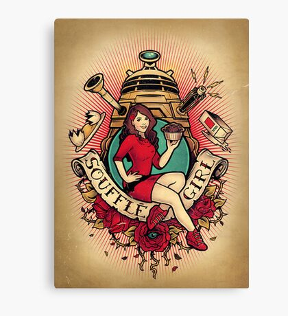 Souffle' Girl Canvas Print