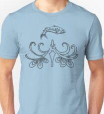 Ornate Mackerel Fish (Black) T-Shirt