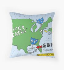 GBP gulf of mexico oil spill comic Throw Pillow