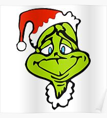 Santa The Grinch Christmas Poster