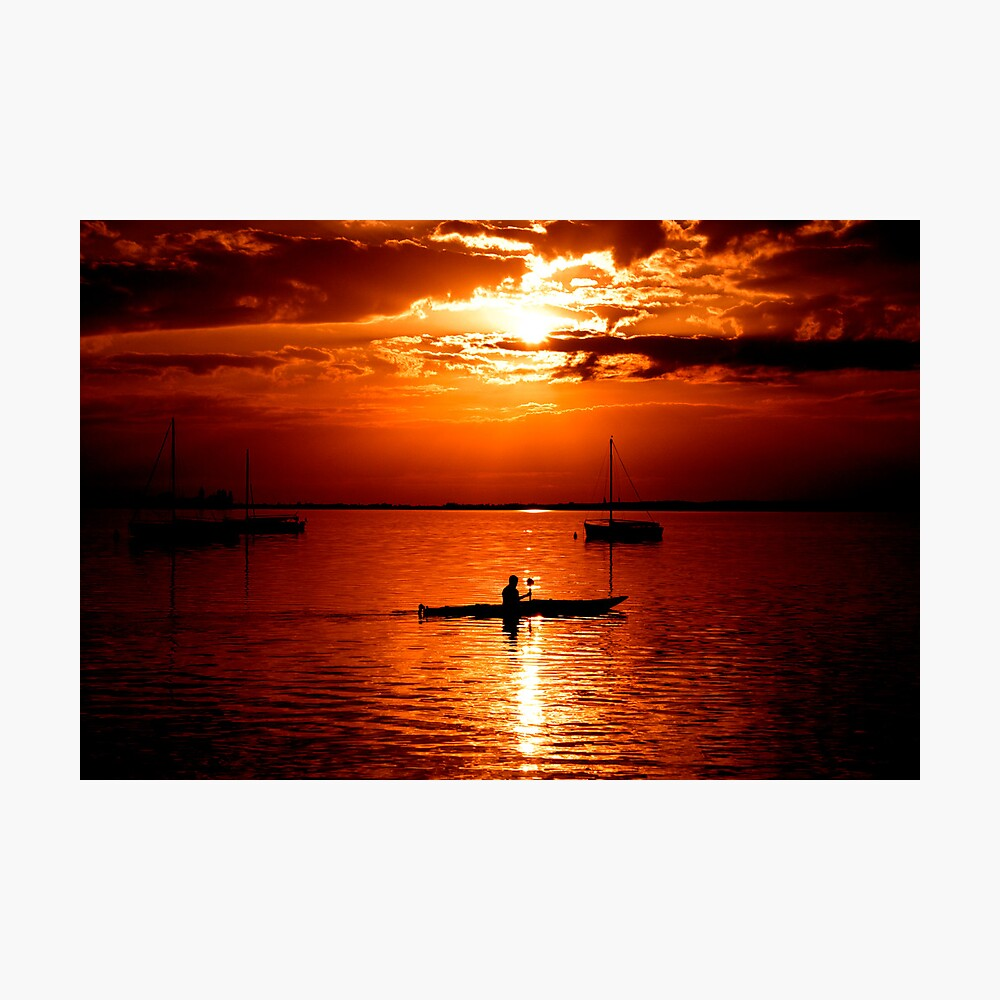 the paddler Photographic Print
