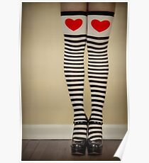 Hearts & Stripes Poster