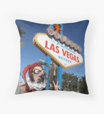 Peace Jester in Las Vegas Throw Pillow