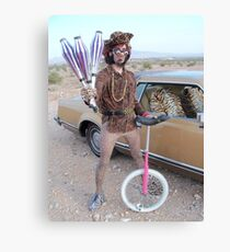 Juggler & Unicycle Clown Canvas Print