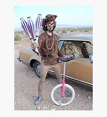 Juggler & Unicycle Clown Photographic Print