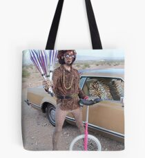 Juggler & Unicycle Clown Tote Bag