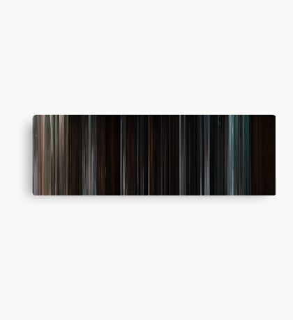 Moviebarcode: The Cabin in the Woods (2011) Canvas Print
