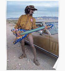 Zappa Moustache Man Poster