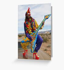 Punk Clown Greeting Card