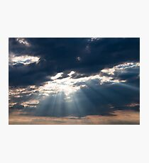 Sun shining thru clouds Photographic Print