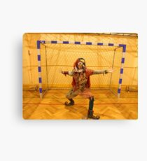 Jester Playing Soccer Canvas Print
