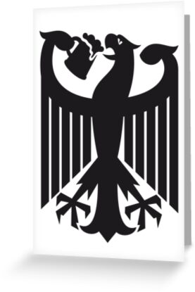 Germany coat of arms eagle beer  by LaundryFactory
