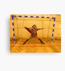 Fool Playing Soccer Canvas Print