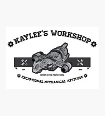 Kaylee's Workshop Photographic Print