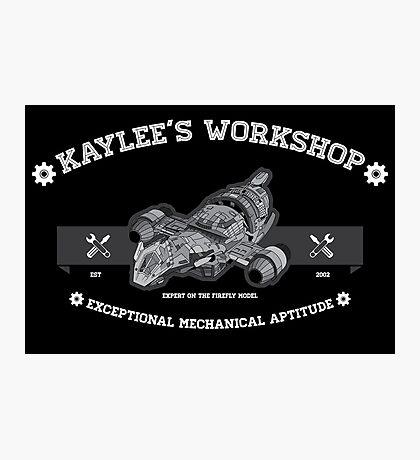 Kaylee's Workshop v2 Photographic Print