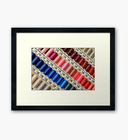 Colors Of The Rainbow, Thread By Thread Framed Print
