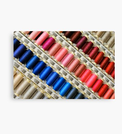 Colors Of The Rainbow, Thread By Thread Canvas Print