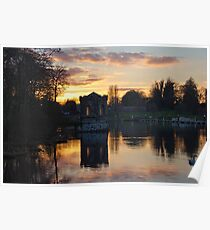 Sunset at Lough Key Poster