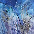 Hide & Seek Wax Butterfly Art by JulieWaxArtist