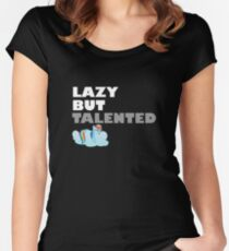 Lazy But Talented - Rainbow Dash VIP Women's Fitted Scoop T-Shirt