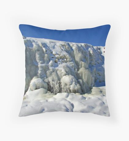 Frosty Waters Throw Pillow