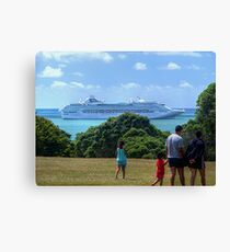 Sea Princess in the Bay of Islands, New Zealand.......! Canvas Print