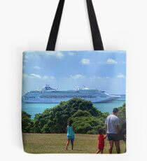 Sea Princess in the Bay of Islands, New Zealand.......! Tote Bag
