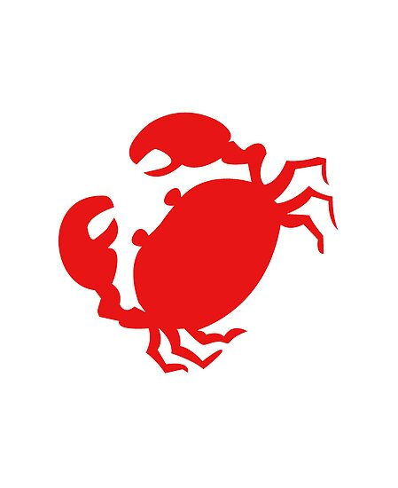 Quot Cute Red Crab Outline Quot Poster By Redpine Redbubble