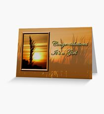 Congratulations It's A Girl Sunset Greeting Card