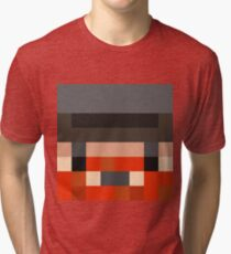 Honeydew Minecraft skin - Yogscast Simon face Tri-blend T-Shirt