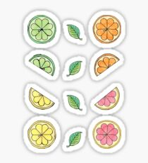 Citrus Ditzy Mini Sticker