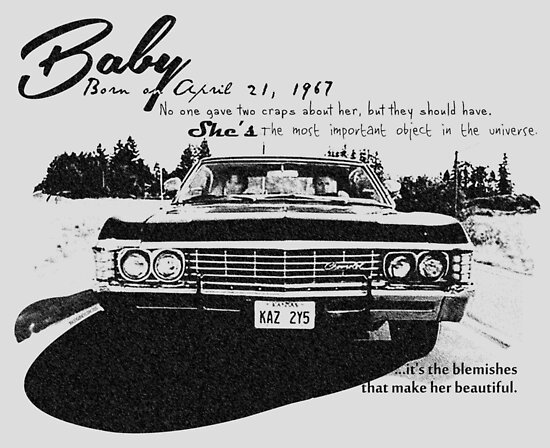 Quot Baby Supernatural 67 Impala Quot Poster By Ryleh Mason