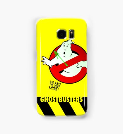 Who Busts The Ghost Busters? (yellow) v3 Samsung Galaxy Case/Skin