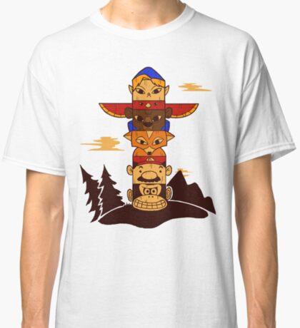 64bit Totem Pole Classic T-Shirt