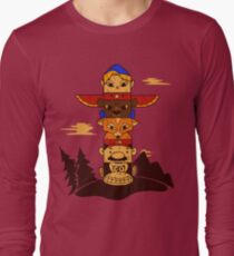 64bit Totem Pole Long Sleeve T-Shirt