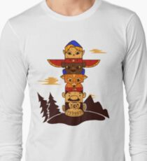 64bit Totem Pole Long Sleeve T-Shirt
