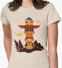 64bit Totem Pole Women's Fitted T-Shirt