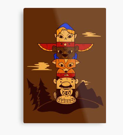 64bit Totem Pole Metal Print