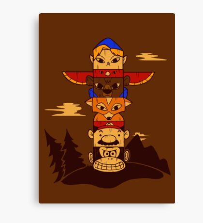 64bit Totem Pole Canvas Print