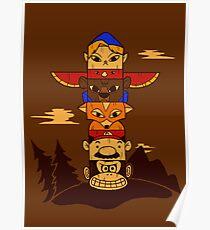 64bit Totem Pole Poster